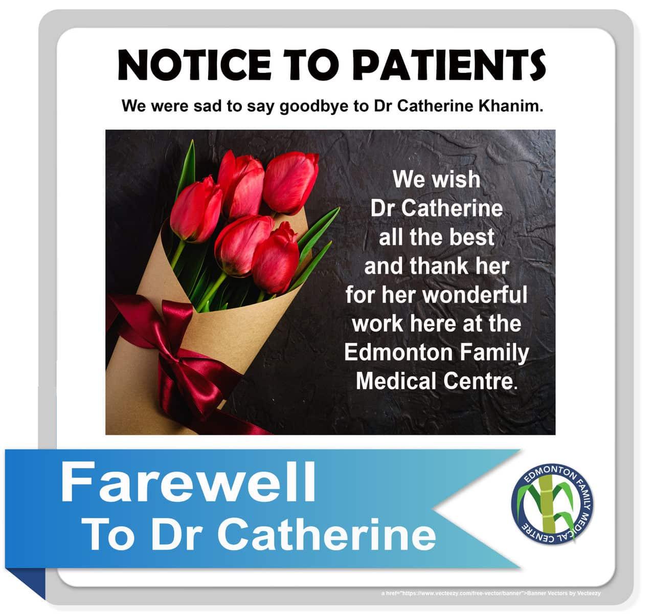 Farewell to Dr Catherine Khanim
